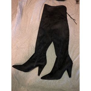 Guess tall black Suede boots size 10